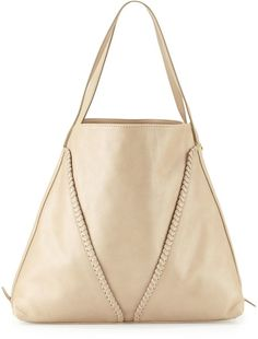 Pin for Later: 35 Stylish Items You Won't Regret Wearing on the Plane  Neiman Marcus Made in Italy Whipstitch Leather Slouchy Tote Bag ($435)