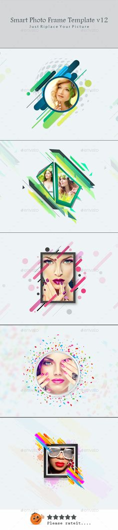 Smart Photo Frame Template v12 - #Photo #Templates #Graphics