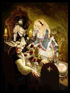 vampire-empire.com alice in wonderland inspired vampire artwork