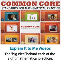 "Math Solutions: ""Explain it to Me Videos""- Scroll over the video screen, to access a video for each of the 8 standards for math practice Math School, School Teacher, Teacher Stuff, Mathematical Practices, Math Practices, Common Core Math, Common Core Standards, Math Education, Special Education"