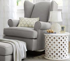 Wingback Convertible Rocker | Pottery Barn Kids I want a set up like this in our living room by the window