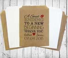 Personalised Sweet Bags A SWEET ENDING wedding by MadeByMikaLtd