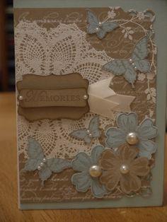 Little collage. Papillion Pot Pourri, Doilly, En Francais, Flower Shop, Stampin Up.