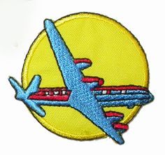 PATCHWORK PANDA LLC - Iron On Patch Applique - Plane flying by Sun, $0.85 (http://www.patchworkpandatrims.com/iron-on-patch-applique-plane-flying-by-sun/)