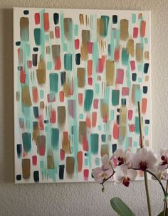 Brushstrokes Canvas Art - so easy!