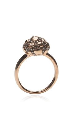 Rose Gold Cloud Ring With Diamonds by Bibi van der Velden