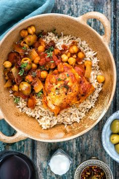 This Spanish-style chicken, chorizo, olive and chickpea stew is simply packed with flavour.