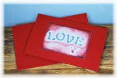 """Liebe & Freundschaft - rote Karte mit Umschlag """"LOVE"""" - ein Designerstück von DaiSign bei DaWanda"""