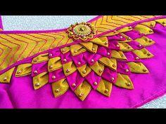 Patch Work Blouse Designs, Simple Blouse Designs, Saree Blouse Neck Designs, Stylish Blouse Design, Churidhar Neck Designs, Hand Designs, Designer Blouse Patterns, Latest Blouse Patterns, Skirt Patterns
