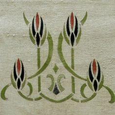 Craftsman Era Linen Table Runner