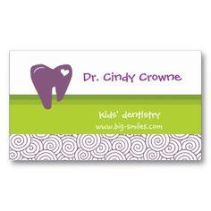 Dental Business Card Cute Heart Tooth Circles Pg Cards Hygiene Dentistry