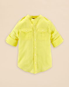 Ralph Lauren Childrenswear Girls' Lightweight Shirt - Sizes 7-16