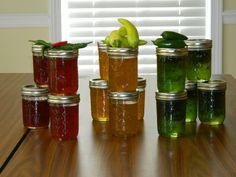 Pepper Jelly We made. The recipe can be found on food.com Search for Hot Pepper Jelly. It's great. :)