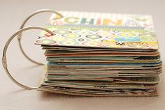 This would be an awesome way to save all of the cards I get for showers and when baby girl arrives!