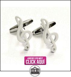 Blanco elegante agudos clef Gemelos con Cristal (x2aj227)  ✿ Joyas para niños - Regalos ✿ ▬► Ver oferta: https://comprar.io/goto/B00B6T2H78