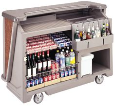 "Cambar 67 1/2"" Portable Bar with 7-Bottle Speed Rail and Cold Plate"
