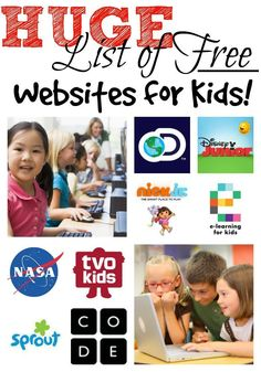 Discover the best educational websites for kids. Let your children learn about e… Discover the best educational websites for kids. Let your children learn about everything from anatomy to phonics with these free and fun websites Free Learning Websites, Learning Tips, Educational Websites For Kids, Learning Activities, Kids Learning, Activities For Kids, Children Websites, Educational Activities, Parenting Websites