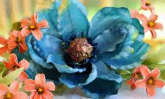 Marvelous floral digital photo painting!