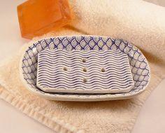 Textured Handmade Ceramic Soap Dish in by BellaTerraCeramics, $22.00 GA