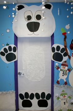 Classroom Polar  Bear Door Decoration ... christmas