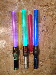 Picture of Cheap And Easy Light up Lightsaber With Interchangeable Blade