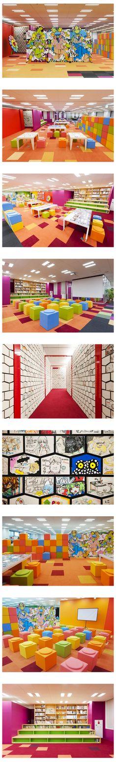 艺术家在线社区Pixiv的办公室室内设计...