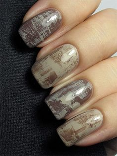 Distressed nails :)