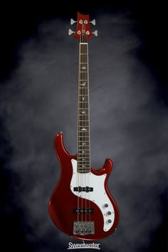 PRS SE Kestrel Bass - Red Metallic | Sweetwater.com. 4-string Electric Bass Guitar with Alder Body, Maple/Walnut Neck, Rosewood Fingerboard, and 2 Single-Coil Pickups - Red Metallic