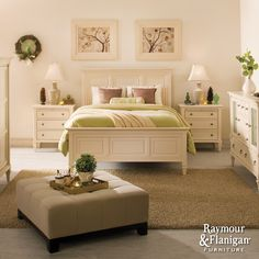 Somerset Collection | This set will adorn your bedroom with the quaint look and classic presence only timeless white furniture can offer.