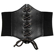 7bc29e64b33 GRACE KARIN Lace-up Cinch Belt Tied Corset Elastic Waist Belt Waist  Cincher