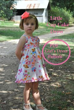 Girls SUNDRESS pdf dress sewing pattern sizes 1 to 10 years
