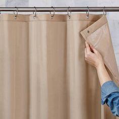 70 X 72 MildewResistant Ultimate Shield Fabric Shower Curtain Liner Tan U003eu003eu003e  You Can