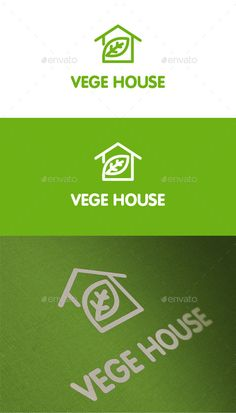 Vege House Nature - Logo Design Template Vector #logotype Download it here: http://graphicriver.net/item/vege-house-nature-logo/13723150?s_rank=317?ref=nexion