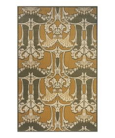 Take a look at this Sage Morris Rug by Color Trend: Gorgeous Green on #zulily today!