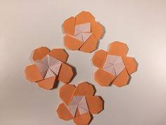 花折り紙  梅花