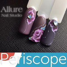 Nails gel tips nailart trendy ideas Rose Nail Art, Rose Nails, Flower Nail Art, 3d Nail Designs, Beautiful Nail Designs, Fancy Nails, Pretty Nails, Picasso Nails, Tulip Nails
