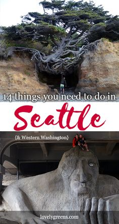 A guide to 14 unforgettable things to do while you're visiting Seattle and the north-west of Washington State. All are low-impact and focus on exploring nature, art, food, culture, and gardening.