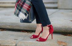 3e19fd3029f Petite peplum sweater + red bow heels (Extra Petite)