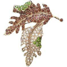 Signed Kenneth Jay Lane Autumn Leaf Brooch circa 1970 Premier Jewelry, Vintage Fall, Kenneth Jay Lane, Fall Leaves, Autumn Inspiration, Fall Wardrobe, Leaf Design, Artisan Jewelry, Jewelry Design