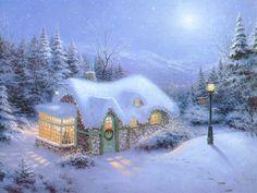 Cottage sous la Neige