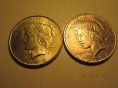 Maison de ventes aux enchères en ligne Catawiki: Etats-Unis - Trois pièces de un dollar 1881, LIBERTY 1924-1925