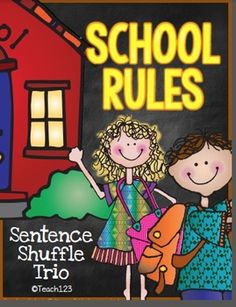 Review rules with this school rules center. It is perfect for your Back to School lesson plans. Students practice their reading skills, improve their reading fluency, and reinforce the importance of school rules. $