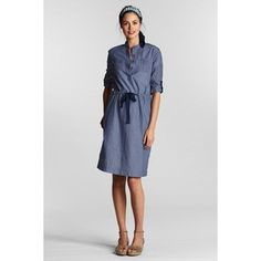lands' end chambray shirt dress | ... lands end dresses lands end women s petite roll sleeve chambray 2