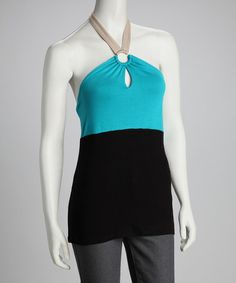 Look what I found on #zulily! Jade Color Block Halter Top #zulilyfinds