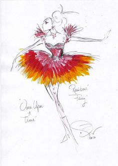 """""""Rainbow Fairy"""" sketch from the ABC TV show Once Upon a Time by costume designer Eduardo Castro."""