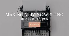 Making a Living Writing