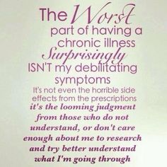 Especially when your symptoms do not show. Ik this was pinned for diabetes, but it can go for any chronic illness.