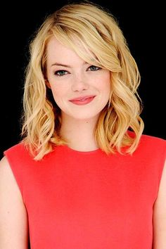 Simple Curly Hair - Emma Stone Hairstyles