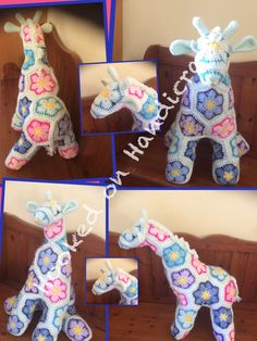 Latest make from www.facebook.com/hookedonhandicrafts Handicraft, Dinosaur Stuffed Animal, Facebook, Toys, How To Make, Animals, Craft, Activity Toys, Animales