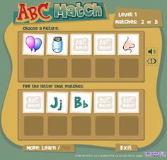 Interactive Education: ABC Match